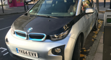 Electric BMW i3 parked in Archway