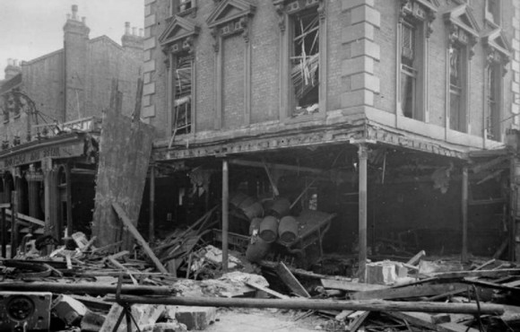 Eaglet pub after the air raid